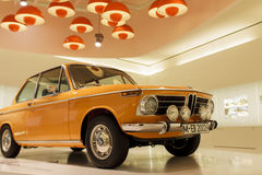 BMW 2002 TI (1968) in BMW Museum, Munich Royalty Free Stock Photo