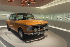BMW 2002 TI from 1968. A Picture from the museum of BMW in Munich, Germany stock photos