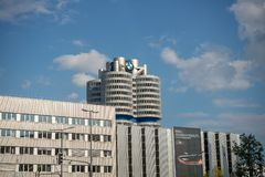 BMW Tower in Munich stock images
