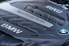 BMW turbo engine Stock Image