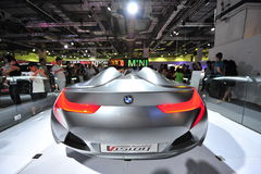 BMW Vision ConnectedDrive two-seater sports car concept on display at BMW World 2014 Royalty Free Stock Photography
