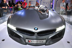 BMW Vision ConnectedDrive two-seater sports car concept on display at BMW World 2014, Royalty Free Stock Photos