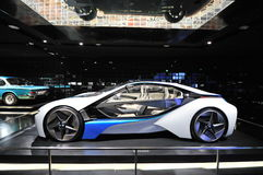 BMW Vision Efficient Dynamics concept car on display in BMW Museum Royalty Free Stock Photo