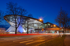 BMW World (BMW Welt) in Munich at night. Royalty Free Stock Image
