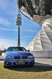 BMW world. In Munich with Car Stock Photography
