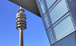BMW world. In Munich Wirth TV-Programm Tower Stock Photos