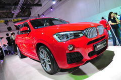 BMW X4 compact luxury crossover SUV vehicle on display at BMW World 2014 Royalty Free Stock Photos