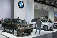 BMW X5 en X5 m-uitgave Stock Fotografie