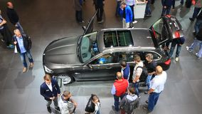 BMW X1 at the IAA 2015 stock footage