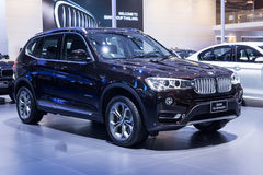 BMW X3 sDrive18D showed in Thailand Royalty Free Stock Photo