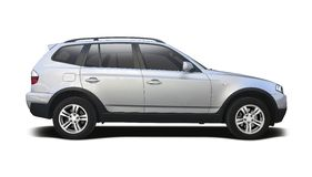 BMW X3 side view isolated on white Stock Photo