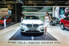 BMW X6 at the Singapore Motorshow 2015 Royalty Free Stock Photography