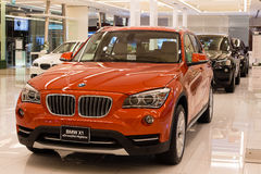 BMW X1 xDrive 20d car on display at the Siam Paragon Mall in Bangkok, Thailand. Stock Photos