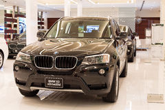 BMW X3 xDrive 20d car on display at the Siam Paragon Mall in Bangkok, Thailand. Royalty Free Stock Images