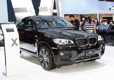 BMW X6 xDrive30d M sport displayed on stage Royalty Free Stock Photos