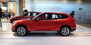 BMW X1 xdrive. MUNICH, DECEMBER 11: BMW x1 SUV at BMW Car Show on December 11, 2012 in Munich, Germany Royalty Free Stock Image