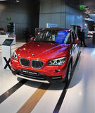 BMW X1 xdrive. MUNICH, DECEMBER 11: BMW x1 SUV at BMW Car Show on December 11, 2012 in Munich, Germany Stock Image