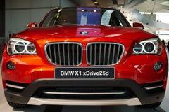 BMW X1 xDrive25d特写镜头 库存图片