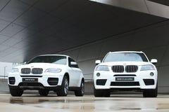 BMW X3 xDrive30d und X6 M50d Stockfoto