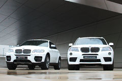 BMW X3 xDrive30d and X6 M50d Stock Photo