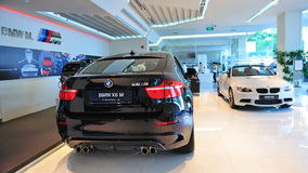 BMW X6 M and M3 cabriolet on display Royalty Free Stock Images