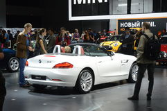 BMW Z4莫斯科国际汽车沙龙 免版税库存照片