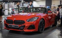 BMW Z4 auf 54. internationaler Auto- und Autoausstellung Belgrads stockfotografie