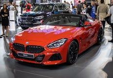 BMW Z4 auf 54. internationaler Auto- und Autoausstellung Belgrads lizenzfreie stockfotos