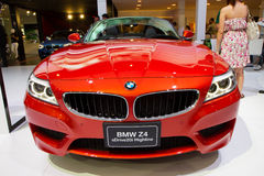 BMW Z4 bil på expo för Thailand Internationalmotor Royaltyfria Foton