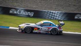 BMW Z4 corsa TWS LM corsa LM в GT300 участвует в гонке на Burirum, Thail Стоковые Фото