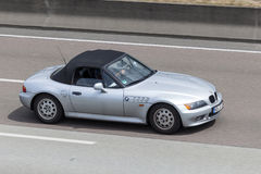 BMW Z3  on the highway Stock Photo
