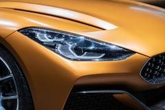 BMW Z4 sportów samochodu zakończenie up zdjęcia royalty free