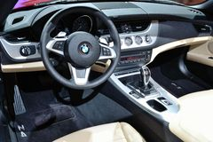 BMW Z4 dashboard Stock Photo