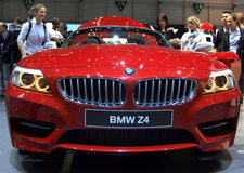 BMW Z4 at Geneva International Motor Show, 2010 Royalty Free Stock Photography