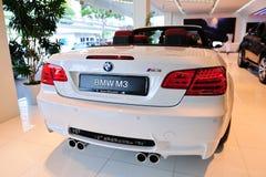 BMWM3 Cabriolet auf Bildschirmanzeige Stockbild