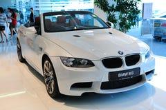 BMWM3 Cabriolet auf Bildschirmanzeige Lizenzfreie Stockbilder