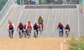 BMX比赛 免版税库存照片
