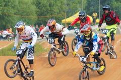 BMX比赛 免版税库存图片