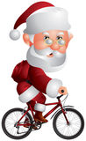 BMX自行车的圣诞老人 免版税图库摄影