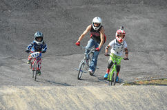 BMX赛跑的波兰冠军 免版税图库摄影