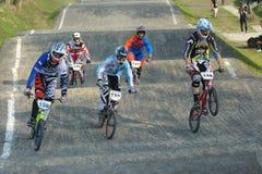 BMX赛跑的波兰冠军 库存照片