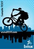 bmx骑自行车者 免版税库存照片