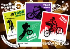 bmx骑自行车者 库存图片