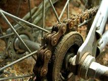 bmx齿轮生锈了 免版税图库摄影