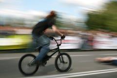 bmx велосипедиста Стоковые Изображения