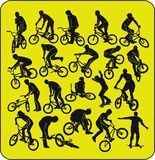 Bmx  silhouettes Stock Photography