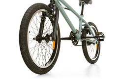BMX. Bike standing on white background Royalty Free Stock Image