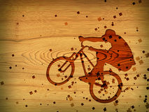 Bmx. Red bmx on wood desk Royalty Free Stock Image