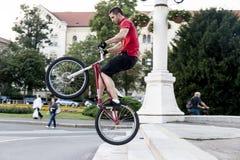 BMX acrobat Royalty Free Stock Photo
