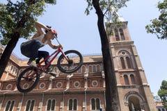 BMX acrobat Stock Photo